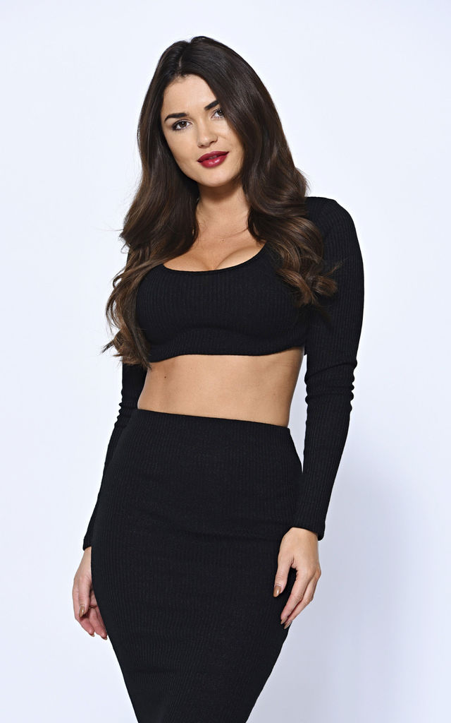 Black Ribbed Knit Co-ord by Off The Railz