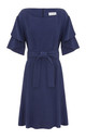 Chloe Ruffle Sleeve Dress in Blue by Leggsington