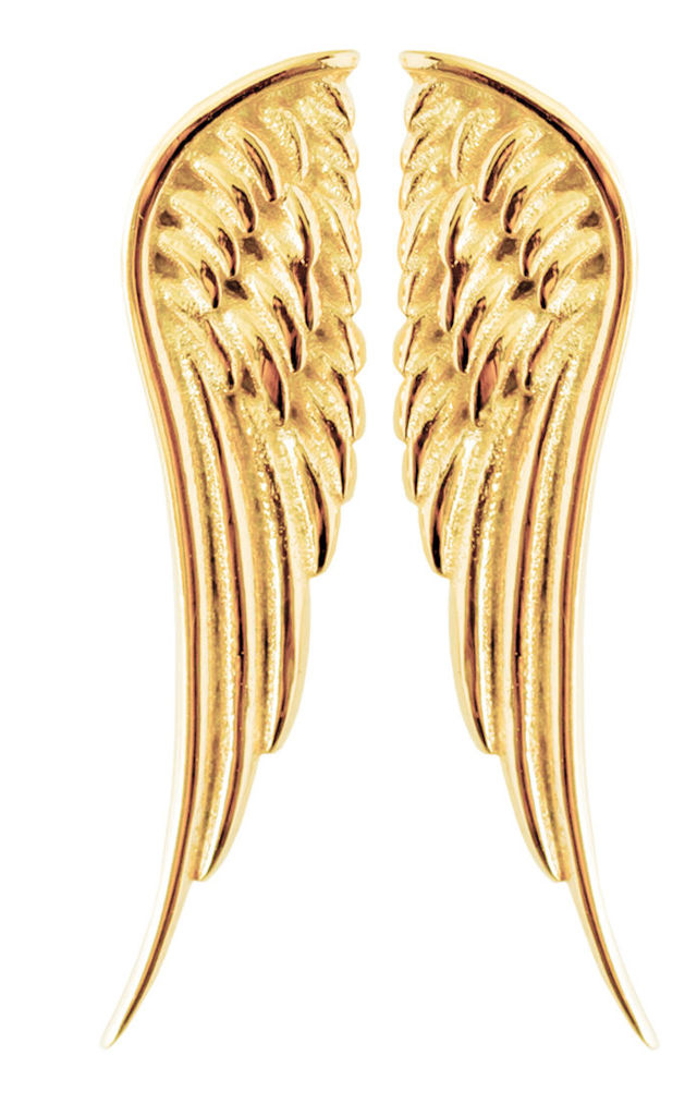 Gold Angel Wing Studs by Booboo Boutique