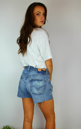 Vintage Levi's Distressed Denim Shorts With Red Tab by Re:dream Vintage Product photo