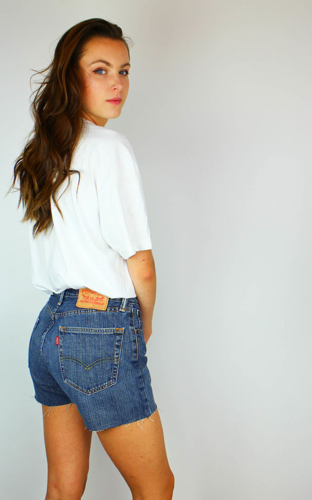 Vintage Levi's Denim Shorts with Red Tab at Back by Re:dream Vintage