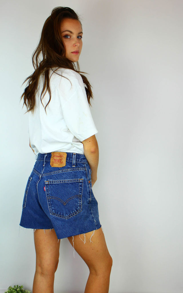 Vintage Levi's Denim Shorts with Logo Red Tab Back by Re:dream Vintage