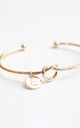 Gold knot Bracelet with Personalised Initial Charm - E by Free Spirits
