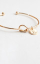 Gold knot Bracelet with Personalised Initial Charm - K by Free Spirits
