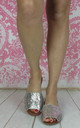 Silver Palma Menorcan style Glittered Sling backs by Fashion Mad