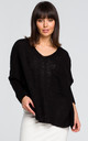 Black oversized jumper with pocket by MOE