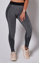 Grey Flex Exercise Gym Leggings by Twisted Saint