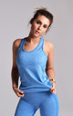 Sapphire Blue Flex Exercise Gym Vest by Twisted Saint
