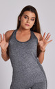 Grey Flex Exercise Gym Vest by Twisted Saint