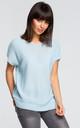 Kimono Sleeve Knit Top in Light Blue by MOE