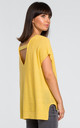 Kimono Sleeve Knit Top in Yellow by MOE