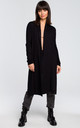 Long cardigan with double collar - black by MOE