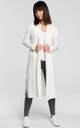 Long cardigan with double collar - white by MOE
