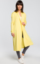 Long cardigan with double collar - yellow by MOE