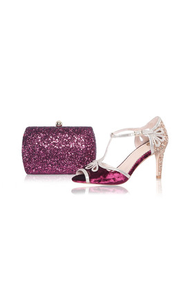 Sylvia Berry Glitter Box Clutch Bag by Perfect Shoes