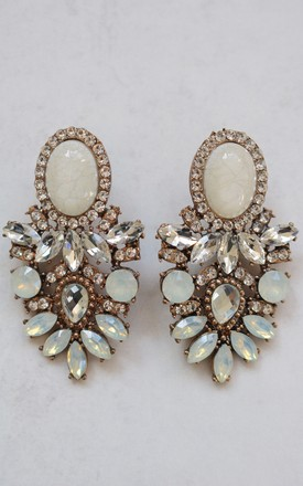 Amelle Clear Earrings by AVAAYA