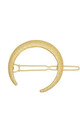 Gold Celestial Crescent Moon Hair Clip by LULU IN THE SKY