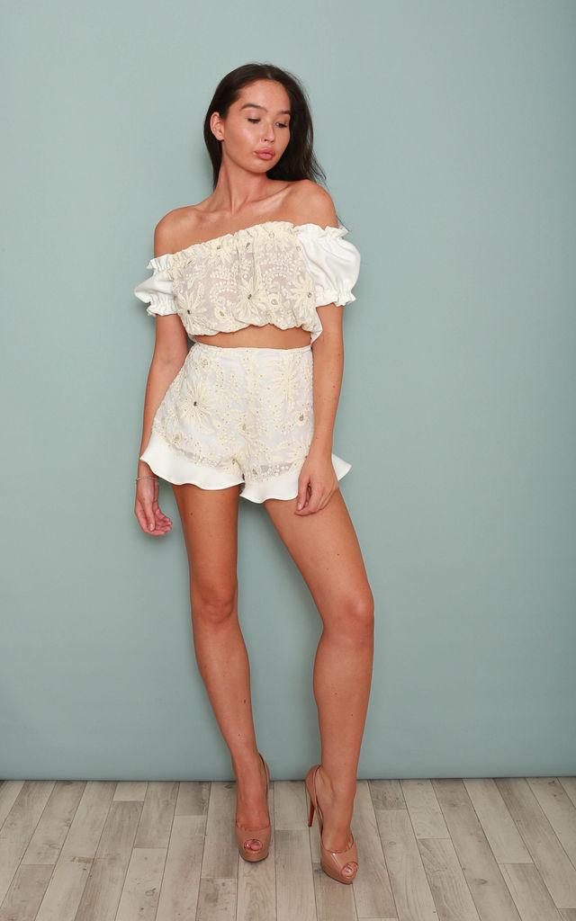 Ariana White Tailored Shorts by Leigh Taylor