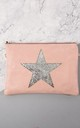 Faux Leather Bag with Glitter Star in Pink by Nautical and Nice Ltd