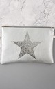 Faux Leather Bag with Glitter Star in Silver by Nautical and Nice Ltd