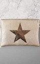 Faux Leather Bag with Glitter Star in Gold by Nautical and Nice Ltd