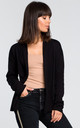 Cardigan with Shawl Collar in Black by MOE