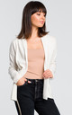 Cardigan with Shawl Collar in White by MOE