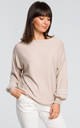 Sweater with wide sleeves - beige by MOE