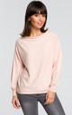 Sweater with wide sleeves - peach by MOE