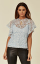 Light Blue Floaty Lace Top with Cami Lining by ANGELEYE