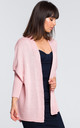 Oversized cardigan in pink by MOE