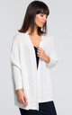 Oversized cardigan in white by MOE