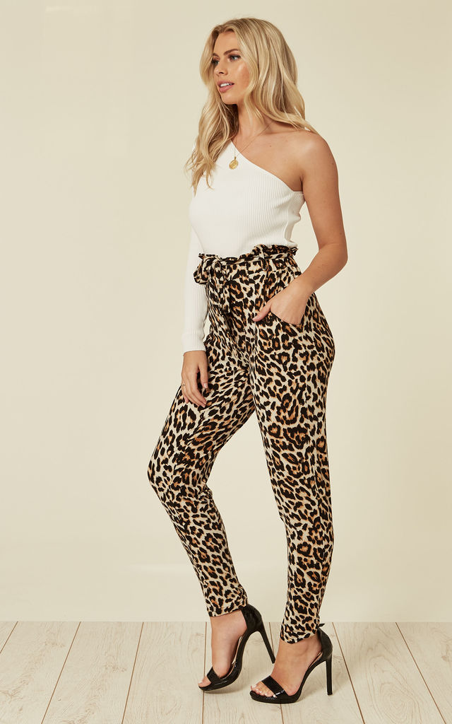 RYLIE – Paperbag Waist Leopard Print Joggers by Blue Vanilla
