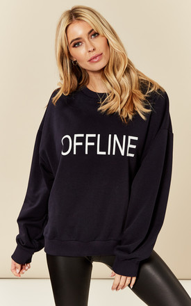 Navy Offline Slogan Sweatshirt by India Gray Product photo