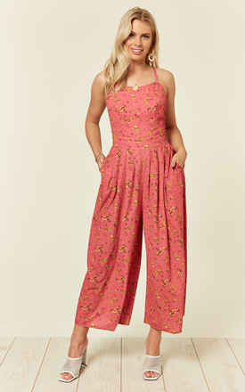 Sam Low Back Floral Pink Jumpsuit by Bright & Beautiful Product photo