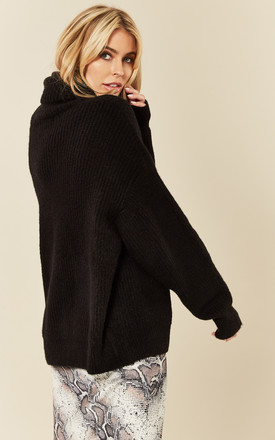 Black knit Roll Neck Jumper by India Gray