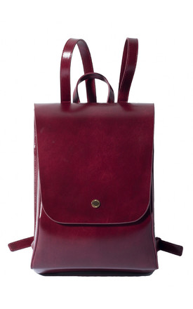 Chic Urban Red Leather Backpack by MOOD BAG