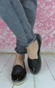 Plain Black Summer Espadrille by Fashion Mad