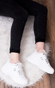 MAGNESIA Chunky Sole Trainers - White Leather Style by SpyLoveBuy