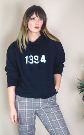 Oversized Navy Hoodie with Personalised Year by Rock On Ruby