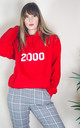 Oversized Red Hoodie with Personalised Year by Rock On Ruby