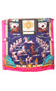 Navy Horses & Chains Bandana Square Scarf by Urban Mist