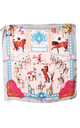 Baby Pink Horses & Chains Bandana Square Scarf by Urban Mist