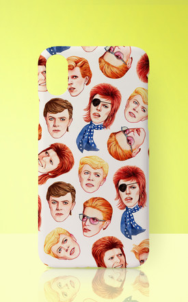 David Bowie Inspired Colourful Phone Case by Art Wow