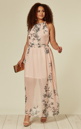 fdde15772f Plus Size Candy Floss Pink Floral Maxi Dress