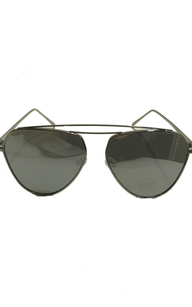 Black Aviator Style Sunglasses by Miss Mills