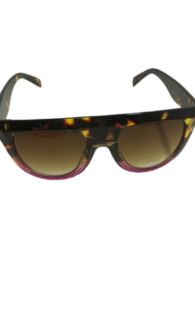 Brown and Pink straight rimmed Sunglasses by Miss Mills