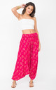 Harem Jumpsuit And Hareem Pants 2 In 1 Fuchsia & Gold by likemary