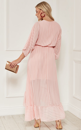 Blush Plunge Maxi Dress by Bella and Blue