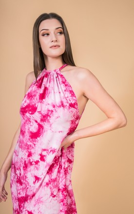 Maxi Dress Isla In Pink Tie Dye by CocooVe Product photo